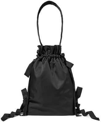 Simone Rocha Bow-embellished Taffeta Tote - Black