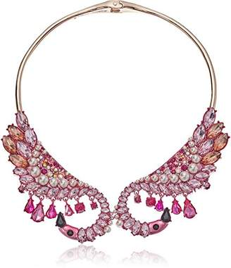 Betsey Johnson Critters Bright Flamingo Collar Necklace