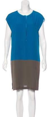 Akris Silk Colorblock Dress