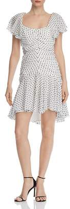 Bardot Jessi Rouched Polka Dot Dress