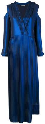 Each X Other pleated plunge neck dress