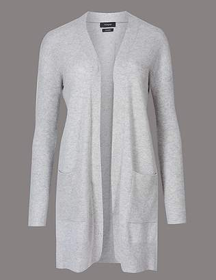 Marks and Spencer Pure Cashmere Textured Longline Cardigan