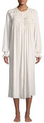 P Jamas Manuela Long-Sleeve Long Nightgown