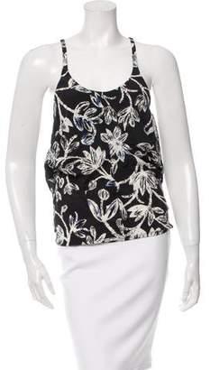 Balenciaga Floral Print Sleeveless Top