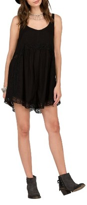 Women's Volcom In My Lane Lace Trim Romper $55 thestylecure.com
