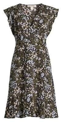 MICHAEL Michael Kors Mod Garden Print A-Line Dress
