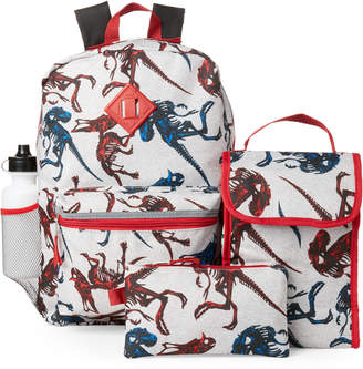 Confetti Boys) Grey 5-Piece Dino Backpack Set