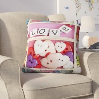 Zoomie Kids Jung Love Beads Cotton Throw Pillow Zoomie Kids