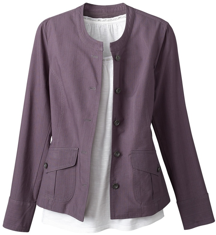 Coldwater Creek Textured button front jacket