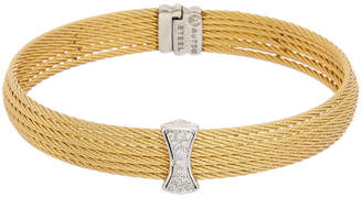 Alor 18K & Stainless Steel 0.12 Ct. Tw. Diamond Cable Bracelet