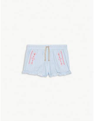 Billieblush Billie Blush Striped cotton-blend poplin frilled shorts 4-12 years