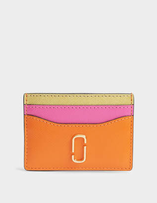 Marc Jacobs Snapshot Card Case in Orange Split Cow Leather