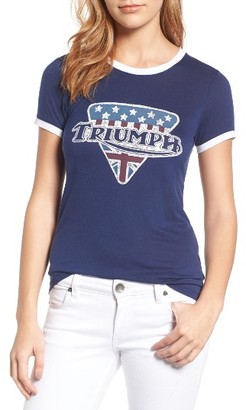 Women's Lucky Brand Triumph Ringer Tee $39.50 thestylecure.com