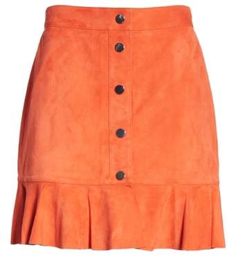 Ganni Salvia Suede Skirt