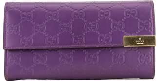 Gucci Purple Leather GG Guccissima Wallet (4085024)