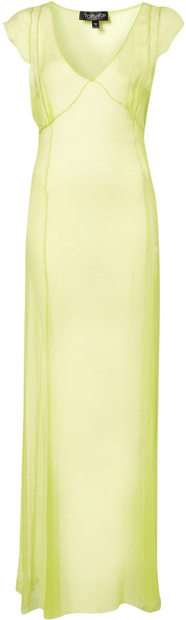 Sheer Overlock Maxi Dress