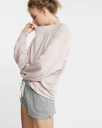 Express One Eleven Plush Jersey Drawstring Shorts