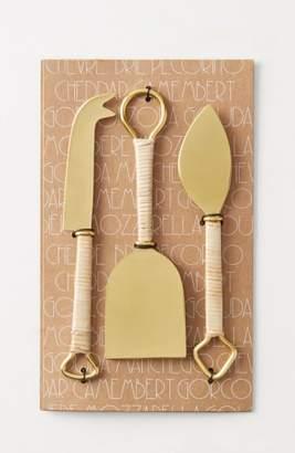 Anthropologie Mikata 3-Piece Cheese Knife Set