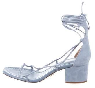 Michael Kors Lace-Up Suede Sandals