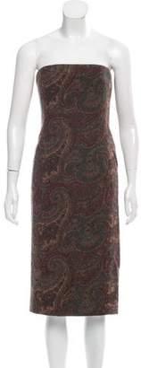 Ralph Lauren Black Label Strapless Wool Dress w/ Tags