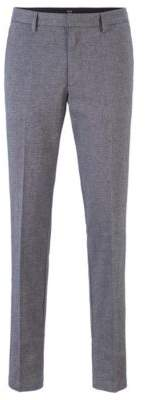 BOSS Slim-fit chinos in mouline stretch twill