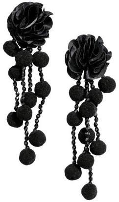 H&M Pompom Earrings - Black