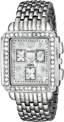 XOXO Women's Tone Bracelet With Rhinestones Accent Watch XO5313