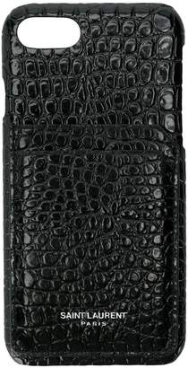 Saint Laurent iPhone 8 crocodile embossed case