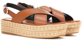 Leather espadrilles sandals