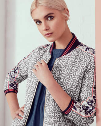 Ted Baker XARIA Geo-floral print bomber jacket