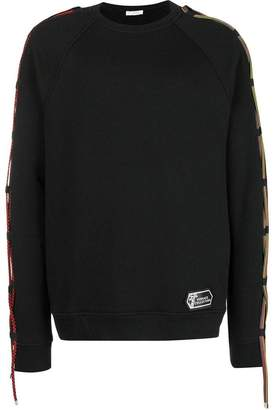 Versace string trim sweatshirt