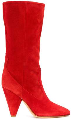 Buttero panelled mid-calf booties
