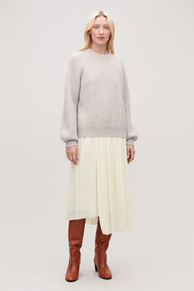 Cos ASYMMETRIC PLEATED WRAP SKIRT