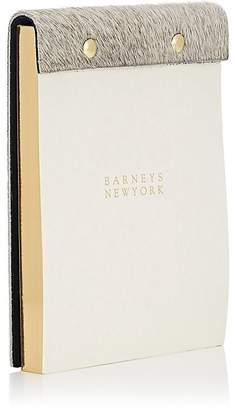 Barneys New York Haircalf-Bound Notepad