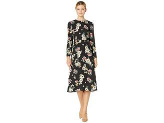 Vince Camuto Long Sleeve Floral Story Dress