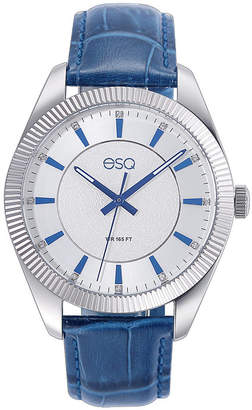 ESQ Men ESQ0152 Stainless Steel Watch with Silver/Blue Dial and Crystal Accents