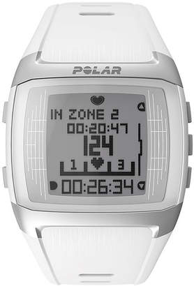 Polar FT60 Womens Heart-Rate Monitor Chronograph White Strap Watch