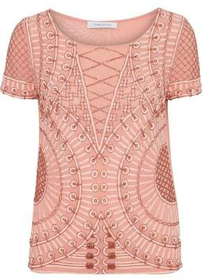 Pierre Balmain Embellished Tulle Top