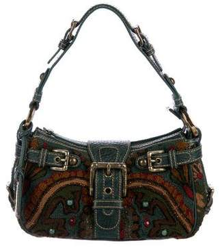 Isabella Fiore Embellished Woven Shoulder Bag