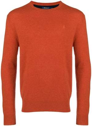 Polo Ralph Lauren logo embroidered knitted jumper