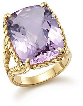 Bloomingdale's Lavender Amethyst Rectangular Statement Ring in 14K Yellow Gold - 100% Exclusive