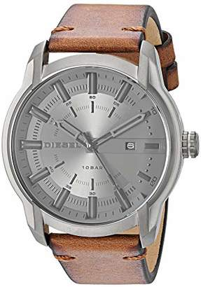Diesel Men's 'Armbar' Quartz Stainless Steel and Leather Watch