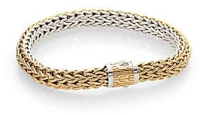 John Hardy Women's Classic Chain 18K Yellow Gold & Sterling Silver Reversible Woven Bracelet/0.3""
