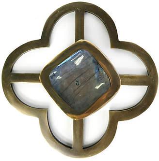 Benson Jones Backplate Pull - Labradorite/Brass - Addison Weeks