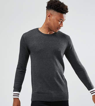 French Connection TALL Crew Neck Knitted Sweater with Contrast Cuff