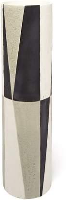 L'objet - X Large Cubisme Vase - Black White