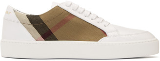 Burberry White Salmond Check Sneakers $375 thestylecure.com