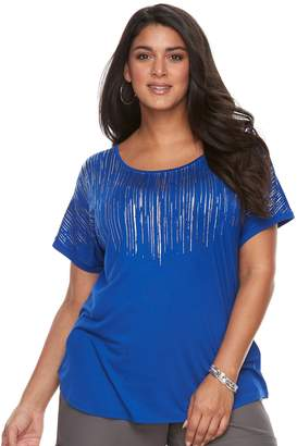 Apt. 9 Plus Size Crewneck Short Sleeve Top