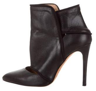 IRO Leather Cutout Ankle boots