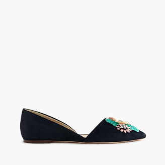 Collection Sloan jeweled suede d'Orsay flats $258 thestylecure.com